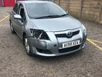 Toyota Auris, 2009 (59) Silver Hatchback, Manual Petrol, 102,006 miles in Chigwell