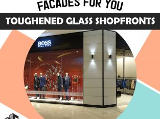 New glass shopfronts in London